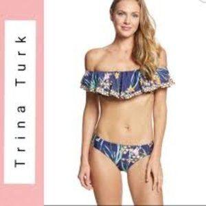 Trina Turk Midnight Fiji 2 PC Swim Set NWT